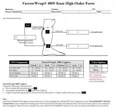 Farrowwrap 4000 Size Chart Farrowwrap 4000 Compression Leg Piece Bandages Plus