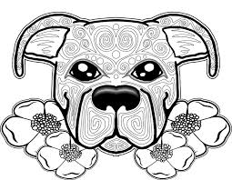 Cute Puppy Mandala Coloring Pages 3 D Dog Page Free For Adults