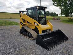 coloring bobcat track loader at yescoloring farm coloring pages 2003 cat caterpillar 257b cab heat air skid steer loader compact track tractor