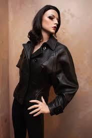 black leather jacket barbara bui regland sleeve contessa bottegacontessa bottega