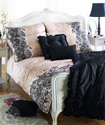 100 cotton sateen duvet quilt cover printed lace gold cream black bedding set
