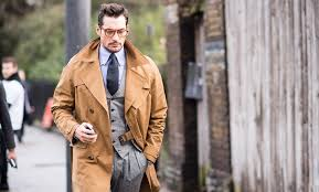 of course the trench looks great when you dress it up it isn t hard to make your trench coat look office ready smarten things up with a waistcoat