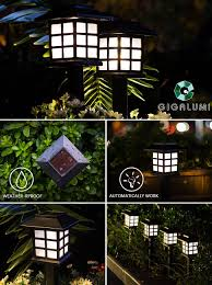 Gigalumi Solar Powered Path Lights Gigalumi Solar Pathway Lights Outdoor Waterproof Outdoor
