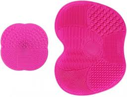 lehsgy makeup brush cleaning mat silicone brush cleaner pad set of 2 souq uae