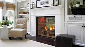 image of ventless double sided gas fireplaces