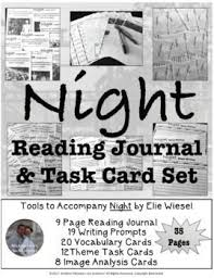 best night by elie wiesel ideas day elie wiesel  night by elie wiesel reading journal task card activity set wwii holocaust ww2