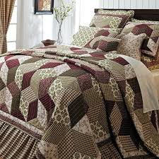 Burgundy Green Country Paisley Block Twin Queen Cal King Size ... & Photo 3 of 7 Burgundy Green Country Paisley Block Twin Queen Cal King Size Quilt  Bedding Set ( California King Adamdwight.com