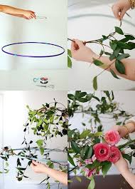 step by step how to wrap flowers and vines around your wire circle