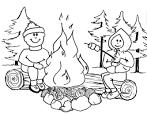 Раскраска на тему огонь