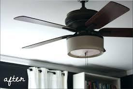 fan shade drum light ceiling fan fan light best of add a drum shade to your