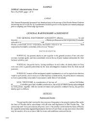 Free Partnership Agreement Template Basic Limited Private