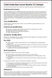 Child Protection Social Worker Cv Sample | Myperfectcv
