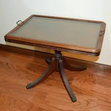 marvelous glass tray table butlers coffee table with removable glass tray vintage cut glass dressing table