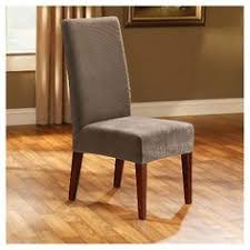 sure fit stretch leather short dining chair slipcover furniture cover dining chair slipcovers chair slipcovers and dining chairs