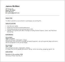 Example Of A Resume For A Job Sample Resume For Accounting Job ...