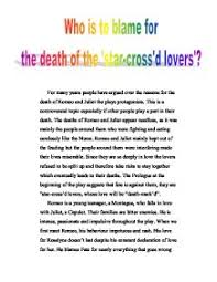 romeo and juliet who is to blame for the death of the star page 1 zoom in