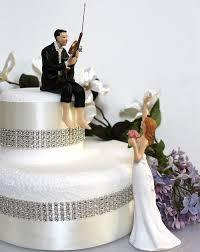 Love Fishing Groom Waving Bride Couple Wedding Cake Topper
