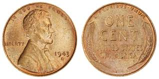 1943 S Lincoln Wheat Penny Bronze Copper Coin Value Prices