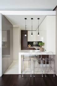 Those barstools. hotel vorobyovy 9 Minimalist Apartment With a Strong Design  Rhythm by Alexandra Fedorova