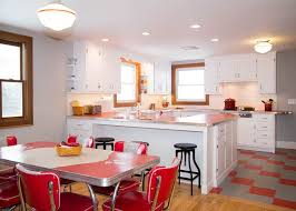 red is a perfect color for a retro kitchen