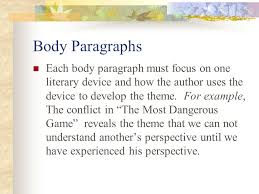 short story literary analysis this is an essay which will analyze 4 body paragraphs