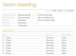 Free Team Meeting Agenda Template Gloria Meeting Agenda Template
