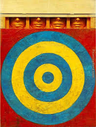 jasper johns target with four faces painting unknown artist jasper johns target with four faces