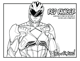 Color Power Rangers Megaforce Coloring Pages Wer Ranger Charge