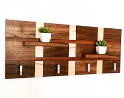 Wooden Coat Rack Wall Mounted Shelf Modern coat rack Etsy 36