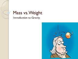 Venn Diagram Mass And Weight Mass Vs Weight