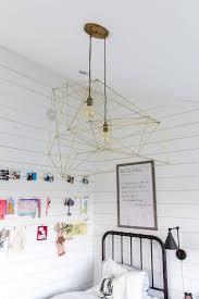 diy modern geometric ceiling light