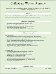 pleasing child care resume sample cosy  resume job