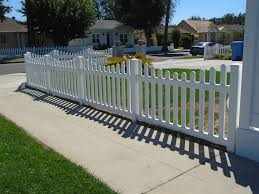 square metal fence post. Vinyl Craft White Scalloped Picket Fencing With Square External Pyramid Post Caps Metal Fence I