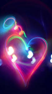 Glow Wallpaper Heart - Wallpaper Paradise