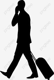 無料ダウンロードのための人物シルエット旅行旅人png素材 旅人 トランク