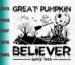 Watch this halloween classic with a mini snickers and a side of nostalgia. Great Pumpkin Believer Since 1966 Svg Png Eps Dxf Halloween Svg Designs Digital Download