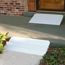 concrete wheelchair ramp silver spring aluminum modular self supporting threshold 1 ada specifications