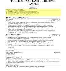 high profile resume samples janitor professional profile1 impressive resume profile template