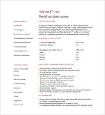 Dental Assistant Resume Template New Dental Assistant Resume Templates Teachengus