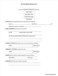 Blank Resume Format Pdf Free Download Resume Resume Examples Resume