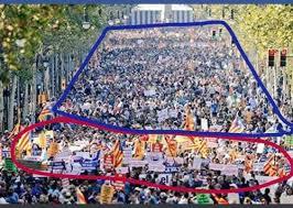 Resultado de imagen de encerrona al gobierno y al rey manifestación barcelona you tube