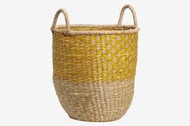 braided seagrass basket