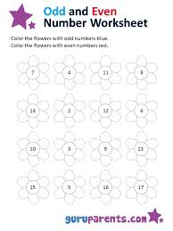 Odd And Even Numbers Chart Odd And Even Number Worksheets Guruparents