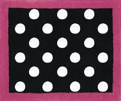 pink and black rug black white polka dot soft floor area or bath rug hot pink