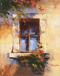 tuscany paintings of windows tuscan window painting by maria gibbs tuscan window fine art