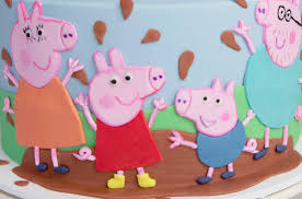 Peppa Pig Birthday Cake For Tia