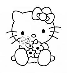 Hello Kitty Coloring Page For Kids For Girls Coloring Pages