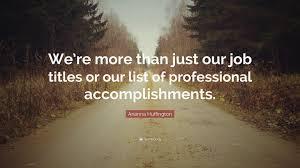 Job Accomplishments List