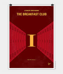 no my the breakfast club minimal movie poster chungkong no309 my the breakfast club minimal movie poster