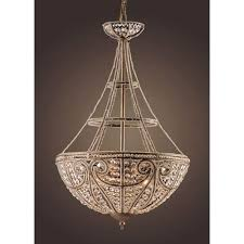 elk lighting elizabethan four light dark bronze bowl pendant